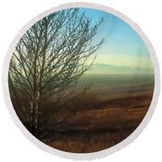 Prairie Autumn 5 Round Beach Towel