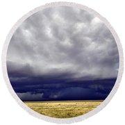 Prairie Storm Round Beach Towel