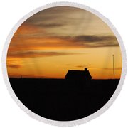 Prairie Sunset Round Beach Towel