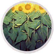 Praise The Son Round Beach Towel