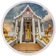 Pranburi Temple Round Beach Towel