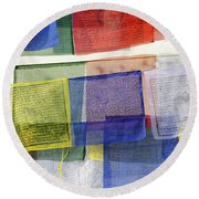 Prayer Flags Round Beach Towel