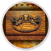 Pre-civil War Bookcase-drawer Pull Round Beach Towel