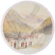Pre St Didier, 1836 Round Beach Towel