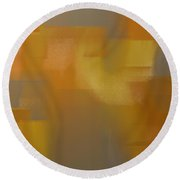 Precious Metals Abstract 2 Round Beach Towel