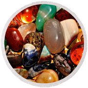 Precious Stones Round Beach Towel by Frozen in Time Fine Art Photography