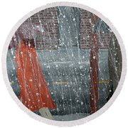 Precipitous Afternoon Round Beach Towel