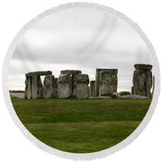 Prehistoric Monument - Stone Henge Round Beach Towel