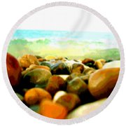 Prehistoric Surface 2 Round Beach Towel