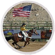 Presenting The Colors Round Beach Towel