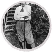 President Harding Playing Golf Round Beach Towel
