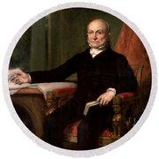 President John Quincy Adams  Round Beach Towel