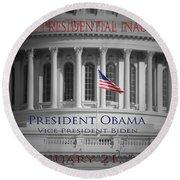 President Obama Inauguration Round Beach Towel