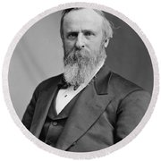 President Rutherford Hayes Round Beach Towel