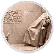 President Theodore Roosevelt 2 Round Beach Towel