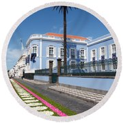 Presidential Palace - Azores Round Beach Towel