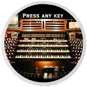 Press Any Key Round Beach Towel