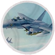 Pressing West At Frisco Round Beach Towel by Wade Meyers