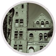Preston Castle Tower Round Beach Towel