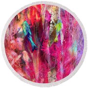 Pretty Bird Round Beach Towel