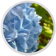 Pretty Blue Flower Round Beach Towel