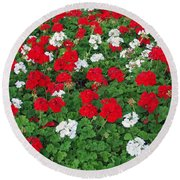 Pretty Flowers Round Beach Towel