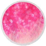 Pretty In Pink Round Beach Towel