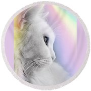 Pretty Kitty Round Beach Towel