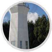 Pretty Lighthouse In Decatur Alabama  Round Beach Towel