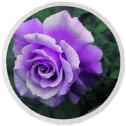 Pretty Lilac Rose Round Beach Towel