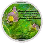 Pretty Little Weeds With Photoart And Verse Round Beach Towel