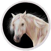 Pretty Palomino Pony Painting Round Beach Towel