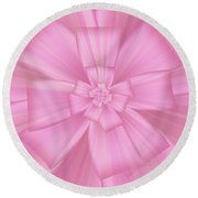 Pretty Pink Bow 1 Round Beach Towel