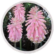 Pretty Pink Forest Lily Round Beach Towel