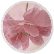 Pretty Pink Poppy Macro Round Beach Towel