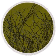 Prickly Branches Round Beach Towel