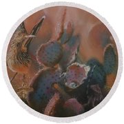 Prickly Situation Round Beach Towel