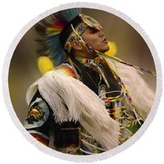 Pow Wow Native Pride 2 Round Beach Towel