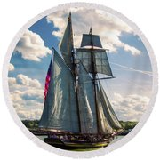 Pride Of  Baltimore 1 Round Beach Towel
