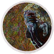 Priest Of Solace Round Beach Towel