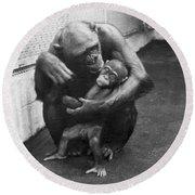 Primate Discipline Round Beach Towel