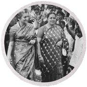 Prime Minister Indira Gandhi Round Beach Towel