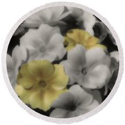 Primrose Flowers Round Beach Towel