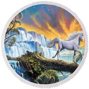 Prince Of The Mountains Round Beach Towel