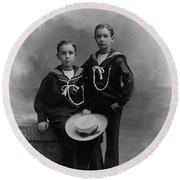 Princes Amedeo And Aimone Round Beach Towel