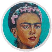 Princess Frida Round Beach Towel