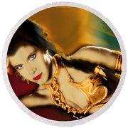 Princess Leia Star Wars Episode Vi Return Of The Jedi 1 Round Beach Towel by Tony Rubino