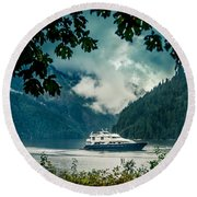Princess Louisa Inlet Round Beach Towel