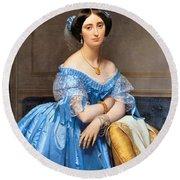 Princesse Albert De Broglie Nee Josephine Eleonare Marie Pauline De Galard De Brassac De Bearn Round Beach Towel