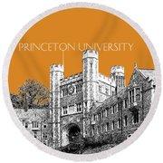Princeton University - Dark Orange Round Beach Towel